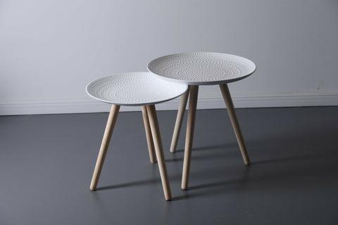 2x Side Tables - Perfect as Bedsides, Plant Stand, Living Room, Sofa End Tables