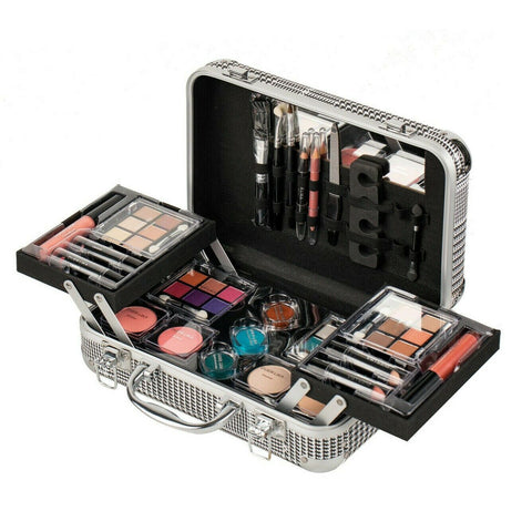 Professional Makeup Kit Lipstick Eyeshadow Palette Beauty Case Cosmetic Set Gift