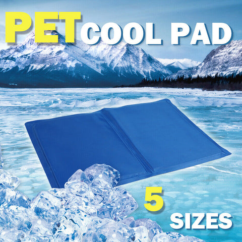 AU Pet Cooling Gel Mat Non-Toxic Summer Cool Pad Dog Cat Bed 5 Size