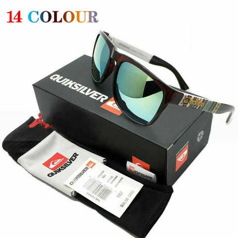 Full Styles 14 QuikSilver Sunglasses Vintage Shades Outdoor Sport Surfing+Box A1