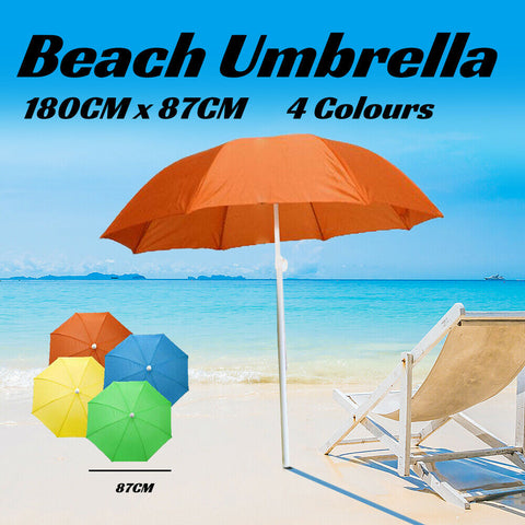 Adjustable Folding Outdoor Beach Umbrella Sun Shade Outdoor Protection 180CM