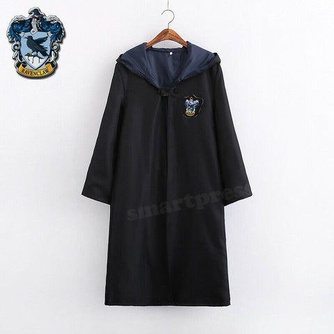 Harry Potter Adult Kids Robe Cloak Gryffindor Slytherin Tie Cosplay Costume Cape Ravenclaw Robe