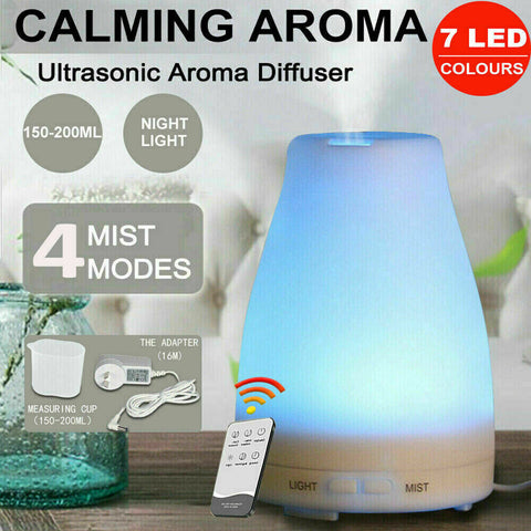 Essential Oil Humidifier Ultrasonic Air Diffuser Aroma Aromatherapy Air Purifier