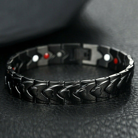 Strong Magnetic Bracelet Titanium Therapy Bracelets for Men Arthritis Relief