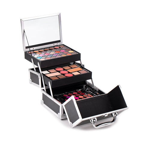 Maùve Professional Makeup Kit Set Blushes Lipstick Eyeshadow Palette Beauty Case