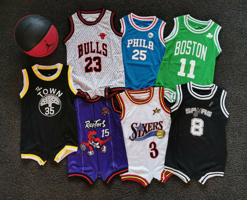 Au Stock Baby Bulls basketball jersey infant romper Jumpsuit Jersey