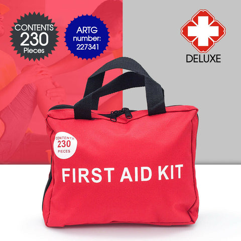 230 PCS Emergency First Aid Kit Medical Travel Set Workplace Family Safety AU