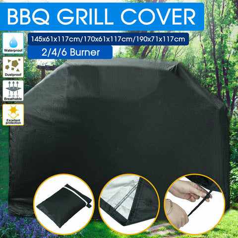 BBQ Cover 2/4/6 Burner Waterproof Outdoor Gas Charcoal Barbecue Grill Protector