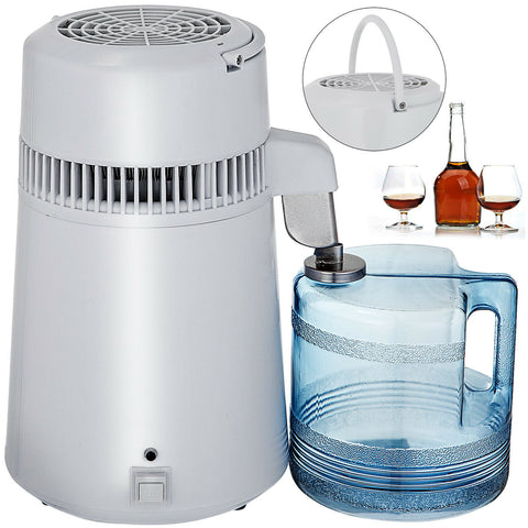 4L WATER DISTILLER PURIFIER STAINLESS STEEL DISTILLED PURIFIED HOME MEDICAL1