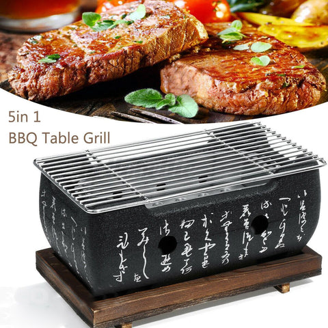 5in1 Japanese Korean Ceramic Hibachi BBQ Table Grill Yakitori Barbecue Charcoal