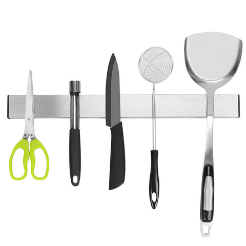 Self-Adhesive Magnetic Knife Storage Holder Chef Rack Strip Utensil 40CM
