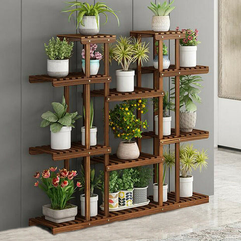 Higher Widen 115cm Height Wood Plant Stand Shelf Bonsai Artworks Exhibition Rack