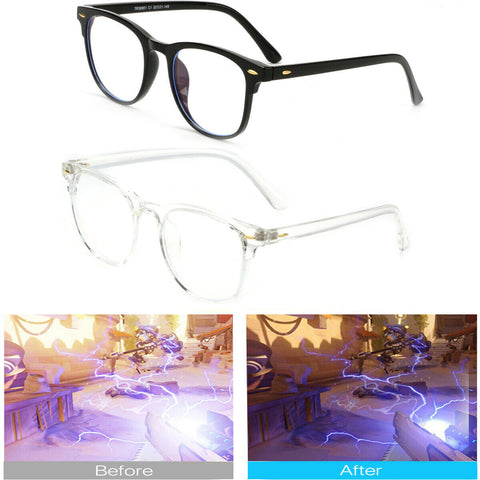 Blue Light Blocking Glasses Computer Gaming Retro Eyewear Vision Care Protection