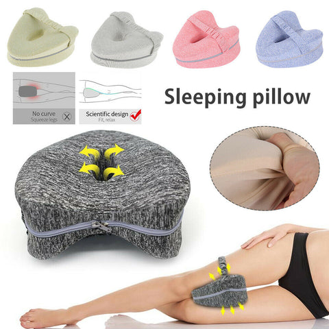 Memory Foam Leg Knee Support Pillow Orthopedic Firm Pain Relief Washable Cover