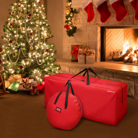 2x Waterproof Extra Large Storage Bags Outdoor Christmas Xmas Tree Cushion Bags