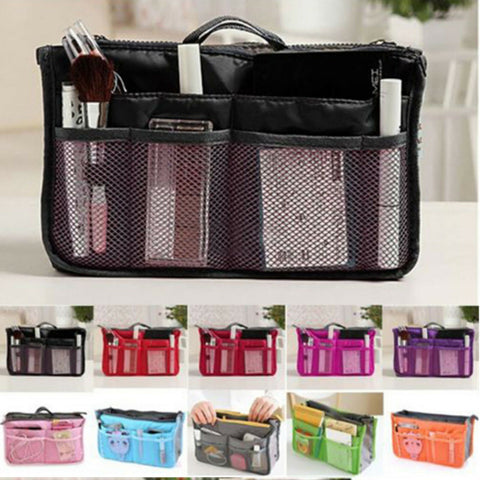 Bag Insert Organiser Handbag Women Travel Makeup Purse Wallet Pouch Organiser