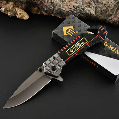 Metal Folding Knife Pocket Tactical Camping Hunting Wild Survival Dagger F57