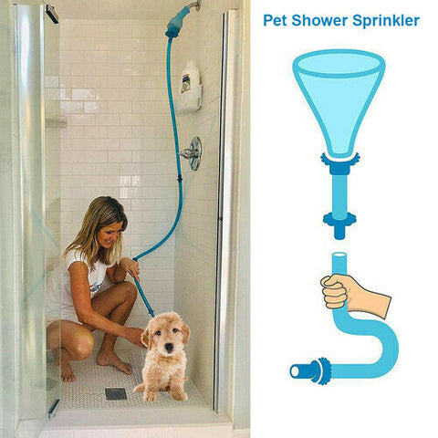 Pet Shower Connector Wash Hose Attachment Sprinkler Handheld Rinser Dogs Bathing