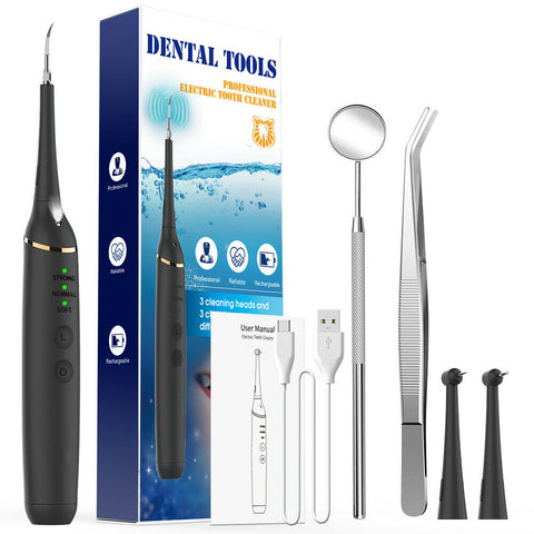 Ultrasonic Electric Dental Calculus Remover Tartar Scaler Scraper Tooth Cleaner