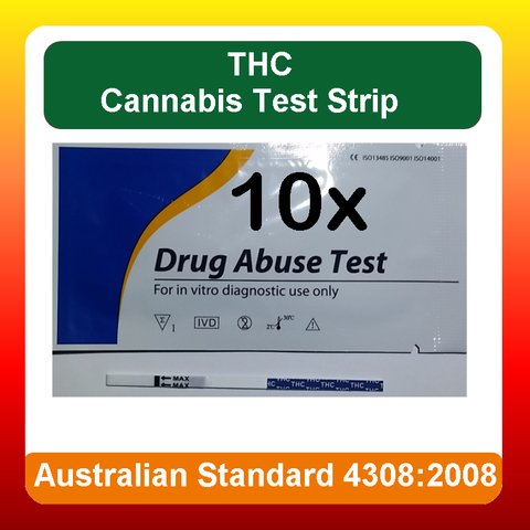 10 x THC Urine Drug Test Kit Screen Strips for (Marijuana) Cannabis