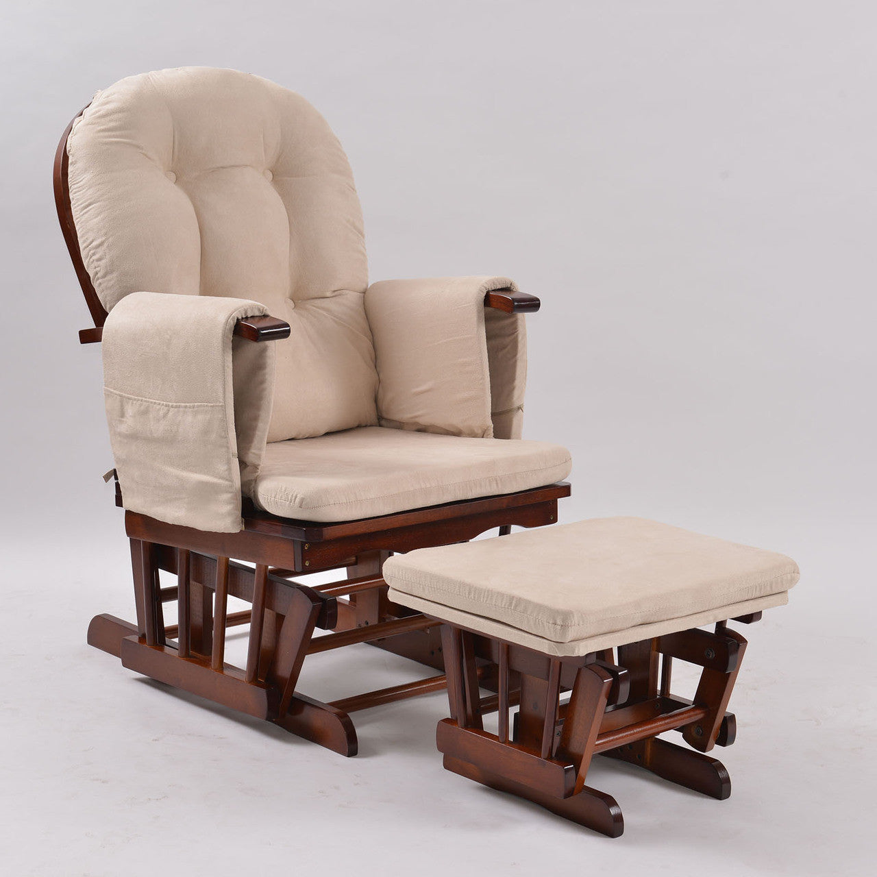 Baby Breast Feeding Sliding Glider Rocking Chair with Ottoman ...