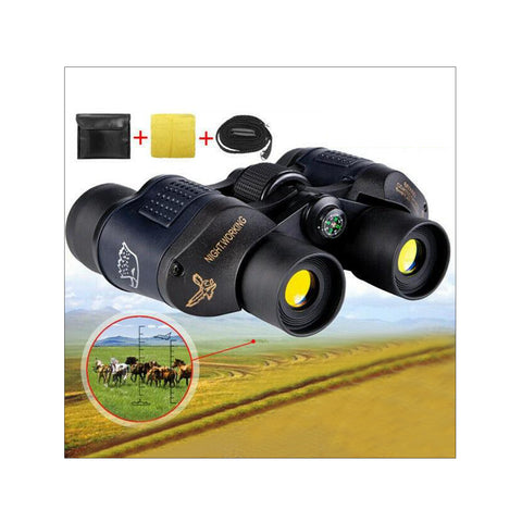 60X60 Marine HD Night Vision Binoculars Wide Field 8.2 Hunt Telescope Coordinate