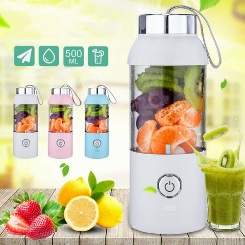 500ML Portable Juice Bottle Maker Cup Electrical Rechargeable Blender Travel USB