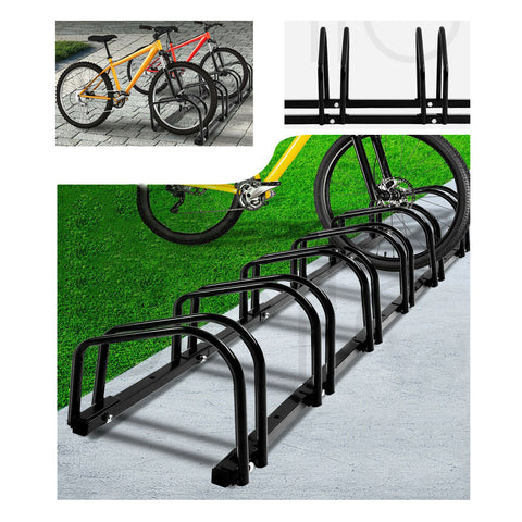 1-6 Bike Stand Bicycle Rack Storage Floor Parking Holder Cycling Portable Stands
