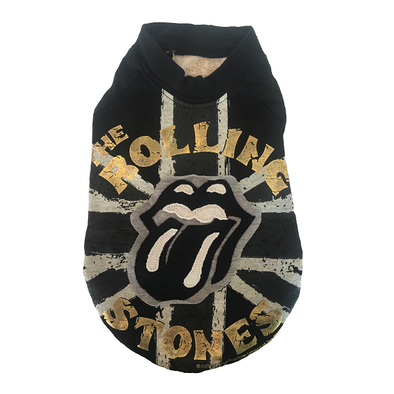 UNION-JACK NOIR <br> License Officielle Rolling-Stones