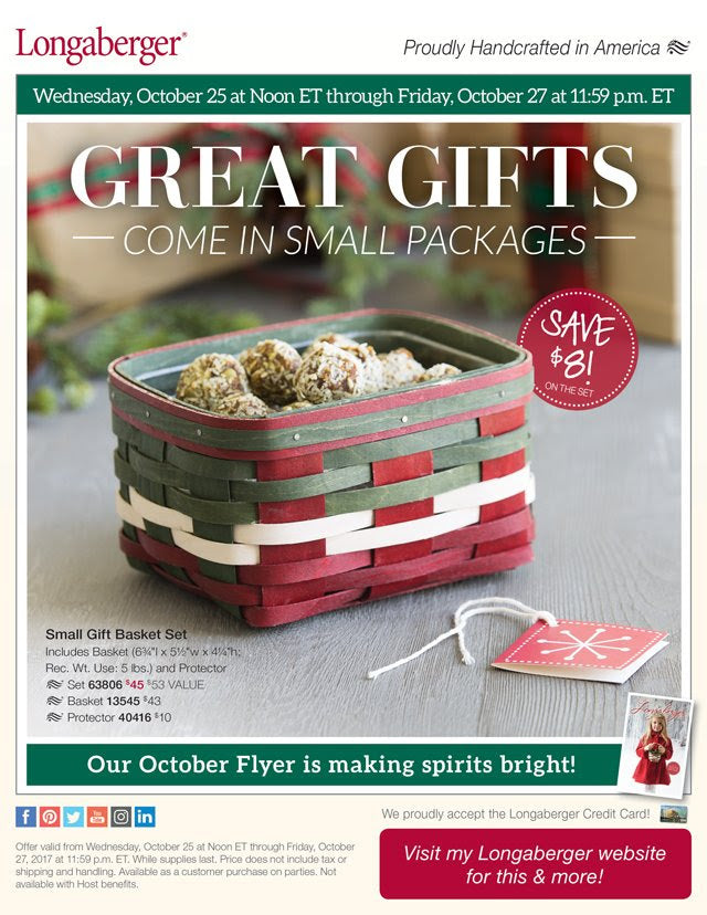 Longaberger Weekly Special -  SAVE $8 on Small Gift Basket Set