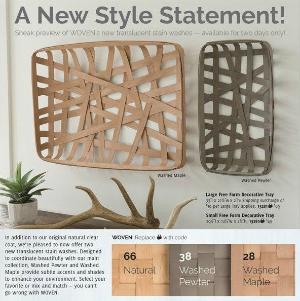 Longaberger WOVEN's NEW Translucent Stain Washes!