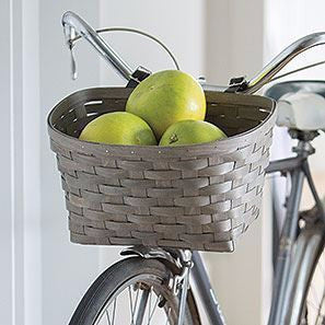Longaberger WOVEN™ COLLECTION Bicycle Basket - Washed Pewter