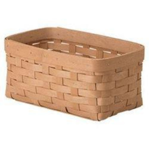 Longaberger WOVEN™ COLLECTION Long Cube Basket - Washed Maple