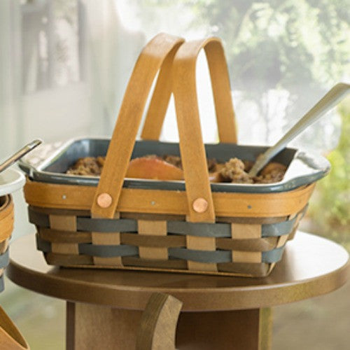 Longaberger Carry & Serve Square Basket with Lidded Protector **NEW**