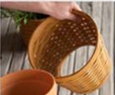 Longaberger Planter Sleeves BRICK RED  3 sizes  **NEW**