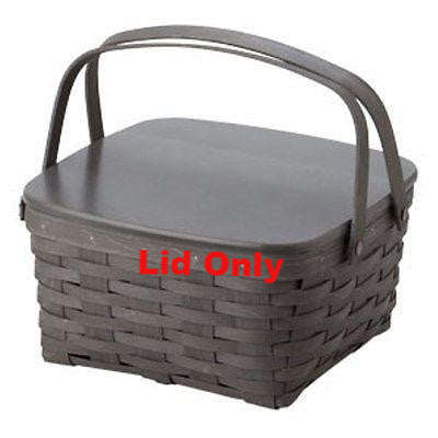 Longaberger Cake Basket WoodCrafts Lid - Pewter