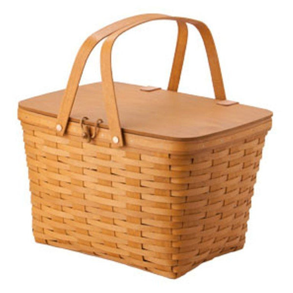 Longaberger Picnic Basket with Protector - Warm Brown