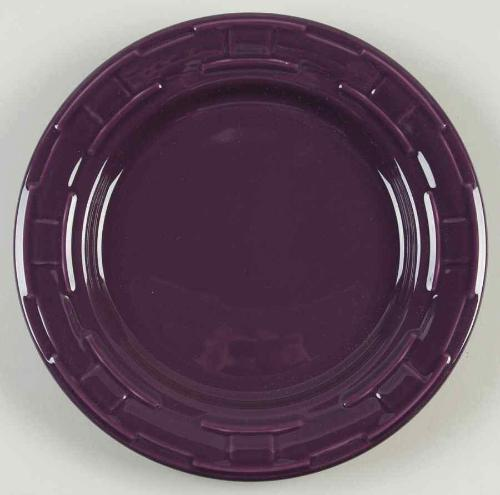 Longaberger Woven Traditions®  Pottery Luncheon Plate - Eggplant