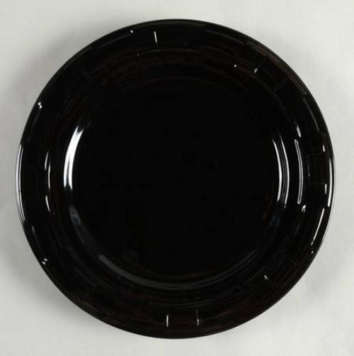 Longaberger Woven Traditions®  Pottery Luncheon Plate - Ebony
