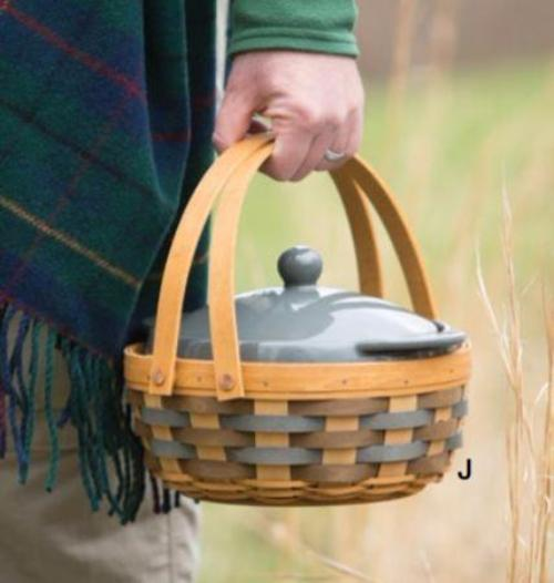 Longaberger Carry & Serve Casserole Basket - Fieldstone