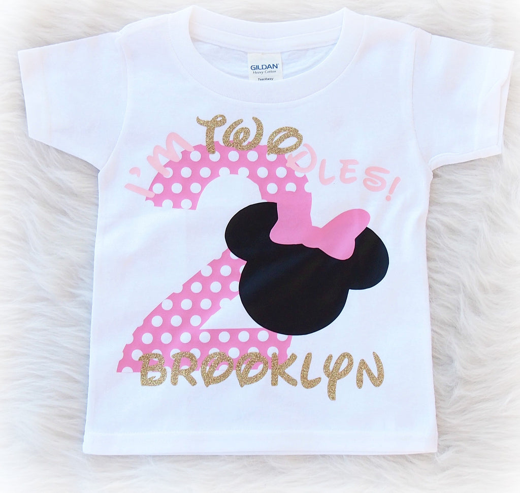 I'm Twodles Minnie Mouse second birthday shirt