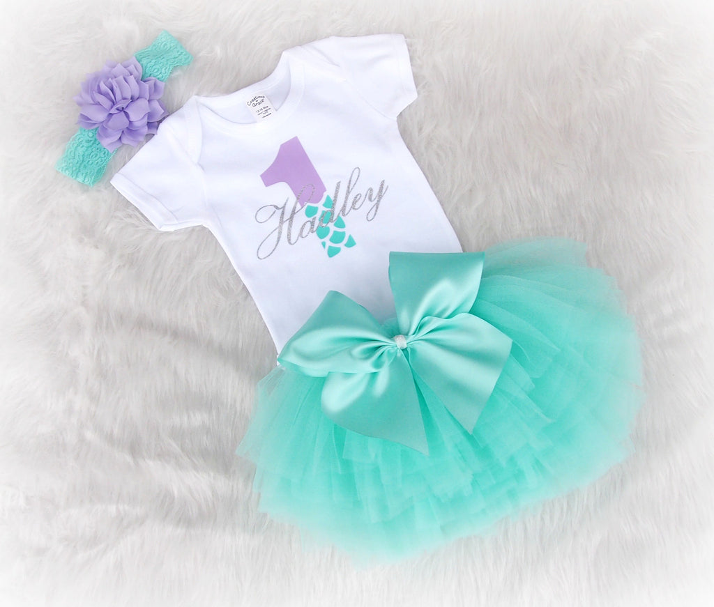 Mermaid First Birthday Outfit Once Upon A Twincess