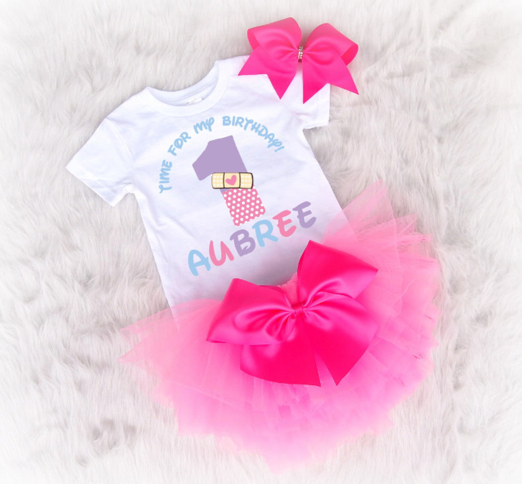 Doc Mcstuffins first birthday outfit with tutu and bow