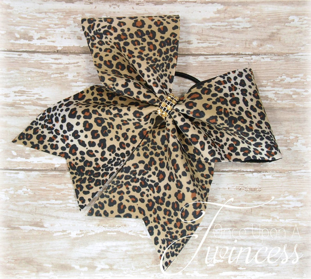 Cheetah Print Cheer Bow