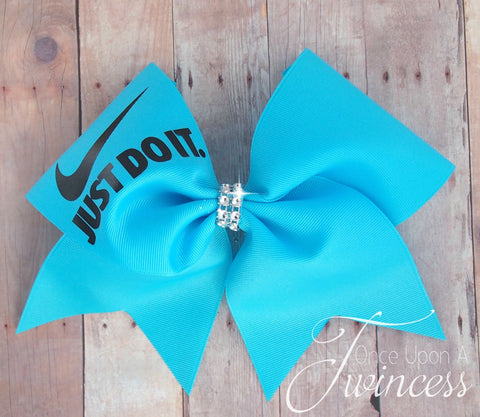 Cheer Bow in Mystic Blue