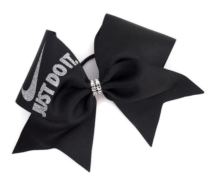 black nike cheer bow