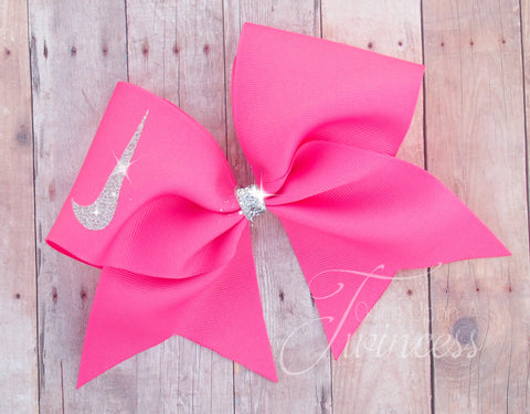 Hot Pink Cheer Bow