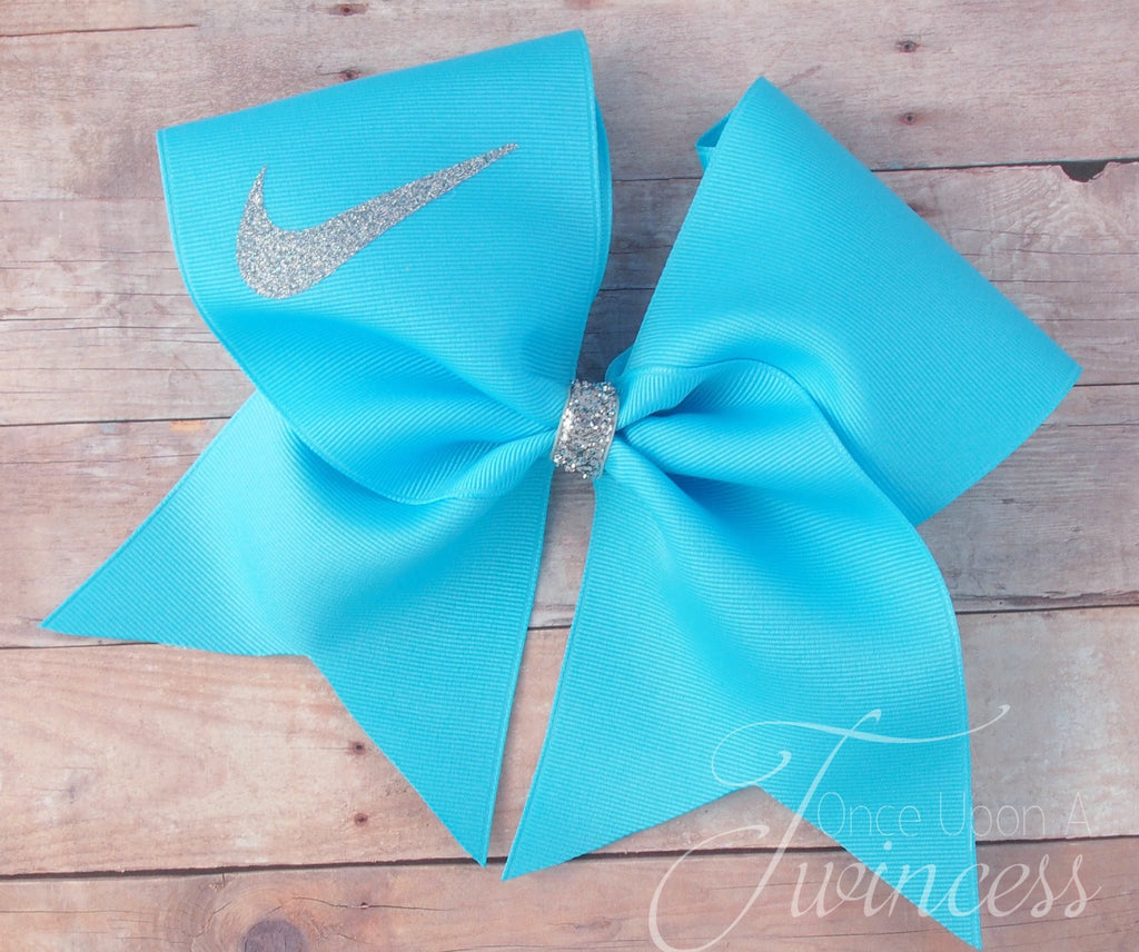 Mystic blue cheer bow