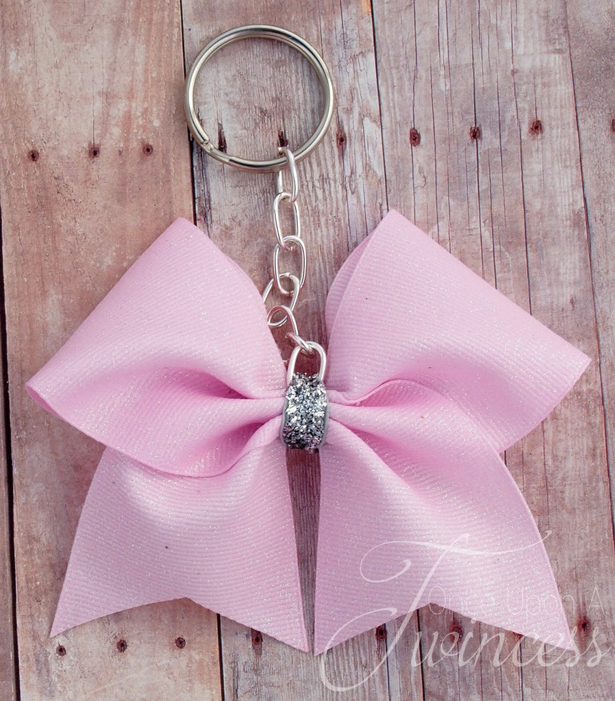 Cheer Bow Keychain Light Pink