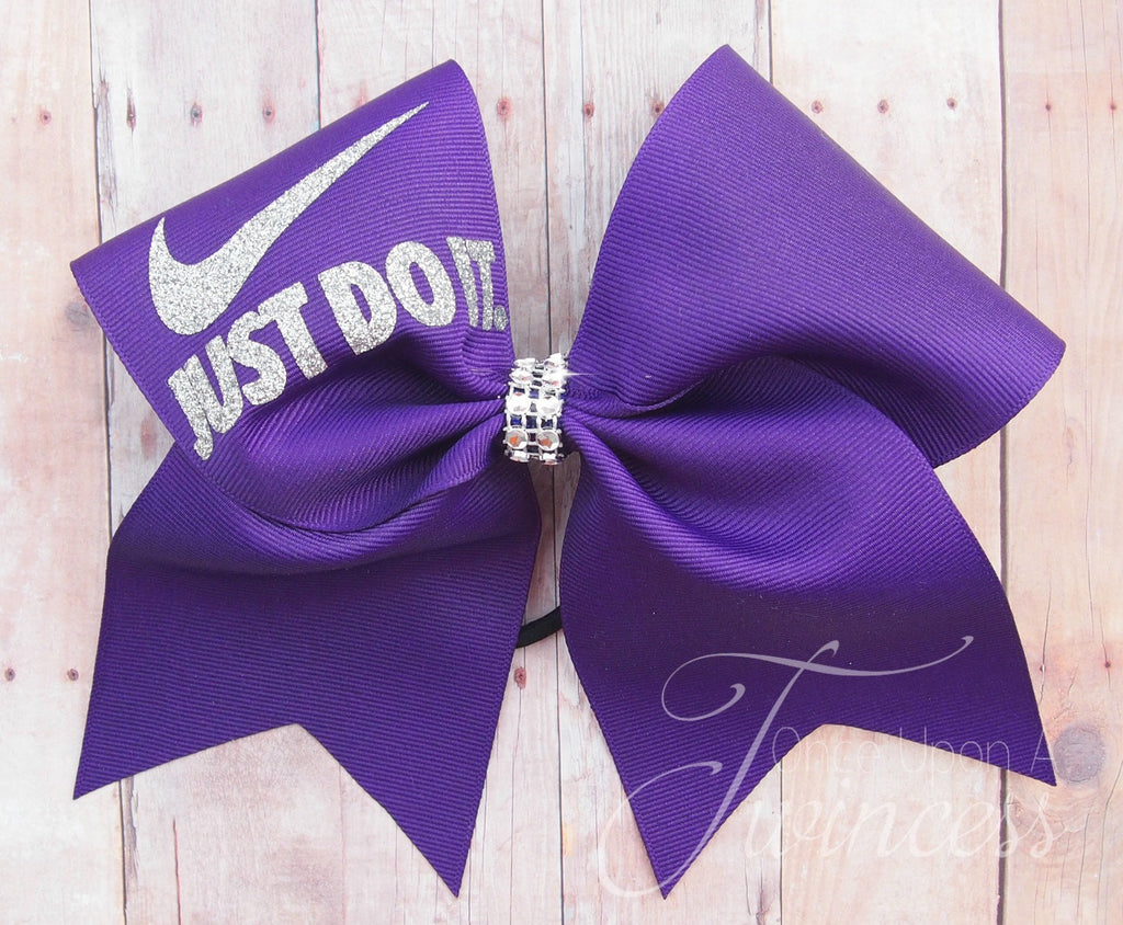 Purple Cheer Bow